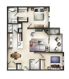 Photo The Residences at the Manor Apartments - 2 Bed...