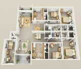 Photo Foxridge Apartment Homes - 4 Bedroom with Den