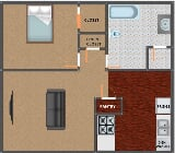 Photo Page Crossing Apartments - Page Crossing 1 bed...