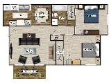 Photo Summit Village Apartments - Two Bedroom One...